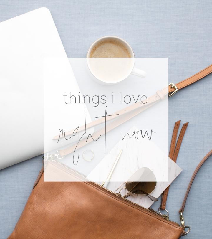 Things I love….